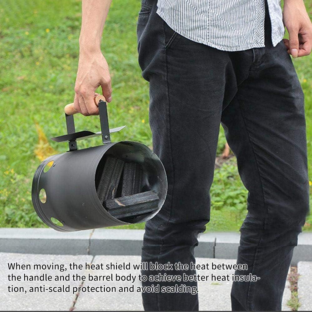 KKA Herramientas de Barbacoa Punto rápido Barriles de Encendido de carbón Encendido de Estufa de Carbono Herramientas de Barbacoa al Aire Libre Arrancador de Chimenea de bambú
