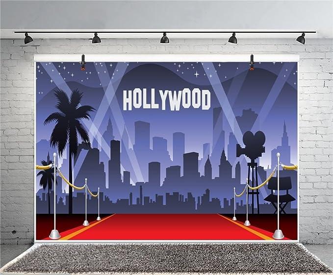 YongFoto 3x2m Vinilo Fondo de Fotografia Hollywood Red Carpet Flash Lights Tel/ón de Fondo Fiesta Ni/ños Boby Boda Adulto Retrato Personal Estudio Fotogr/áfico Accesorios