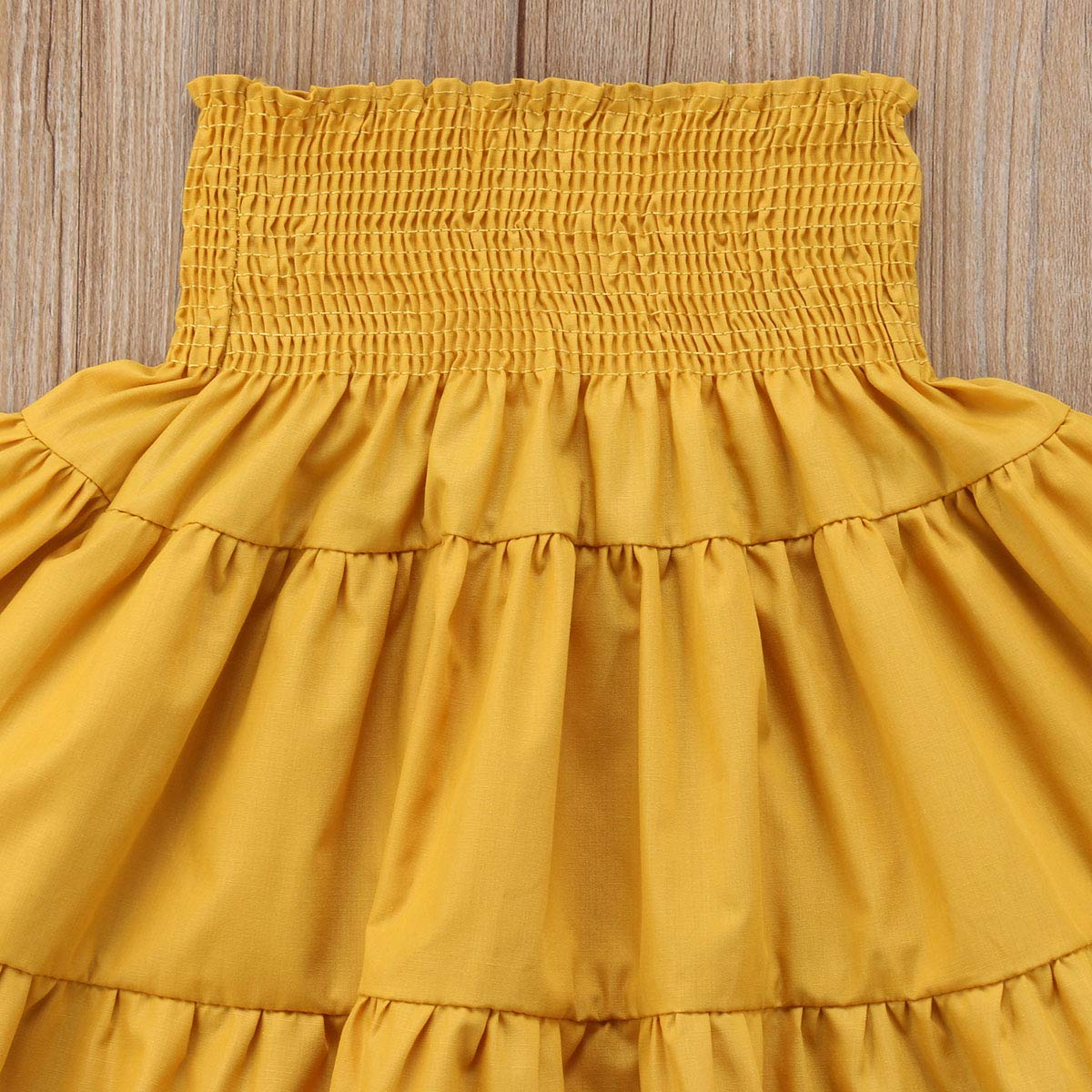 remeo suit Todder Baby Girl 1-5Years Pleated Maxi Skirt Solid Skirt with Elastic Waistband