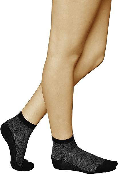 vitsocks Calcetines PLATA-Algodón Tobilleros Mujer (3 PARES) Antibacterianos, Pies Sensibles: Amazon.es: Ropa y accesorios