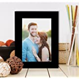 Painting Mantra Synthetic Wall/Table Photo Frame with Stand (4 inches X 6 inches, Black)