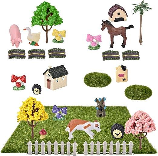 Demine Maison De Jardin Miniature 29 Pieces Kit De