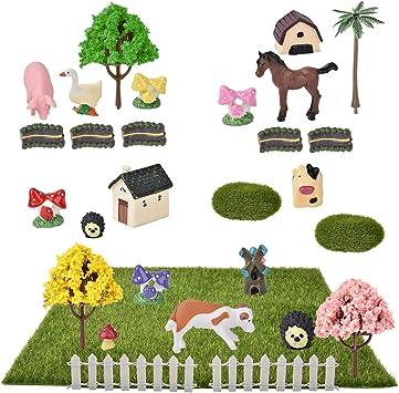 Demine Casas de Jardín de Hadas en Miniatura,Kit de Adornos en Miniatura de 29 Piezas para Decoración de Casa de Muñecas de Jardín de Hadas de Bricolaje: Amazon.es: Equipaje