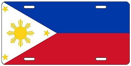 3733b0dc141e8 Amazon.com  Rogue River Tactical Filipino Flag License Plate Novelty ...
