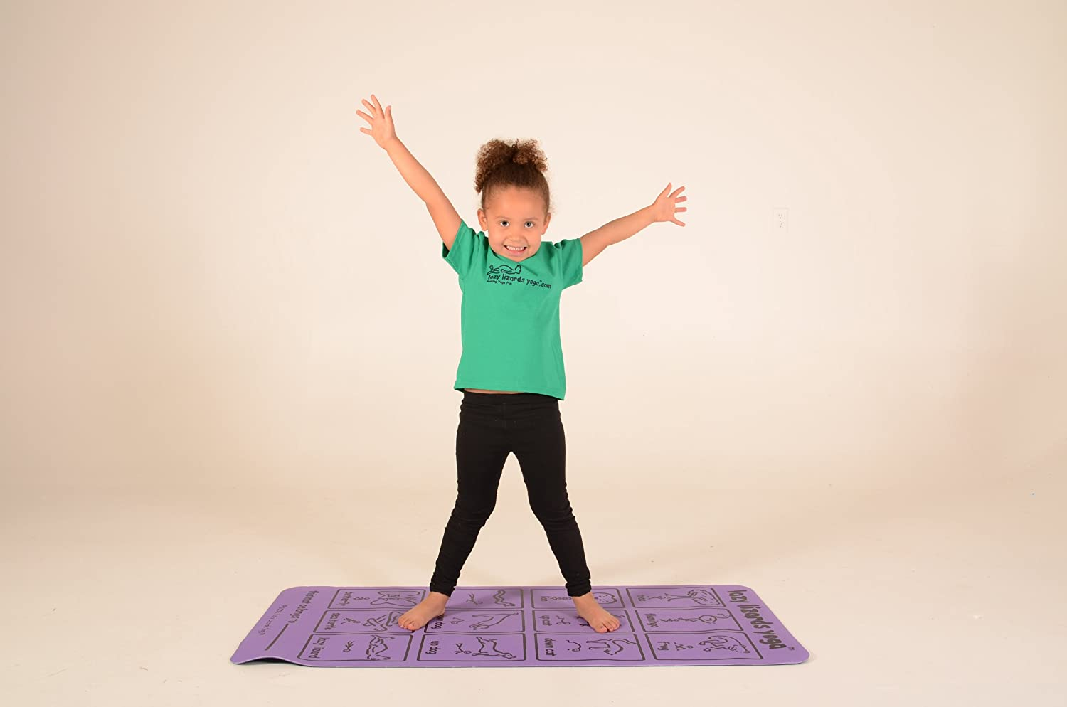 Amazon.com : Lazy Lizards Yoga Kids Yoga Mat (Purple ...