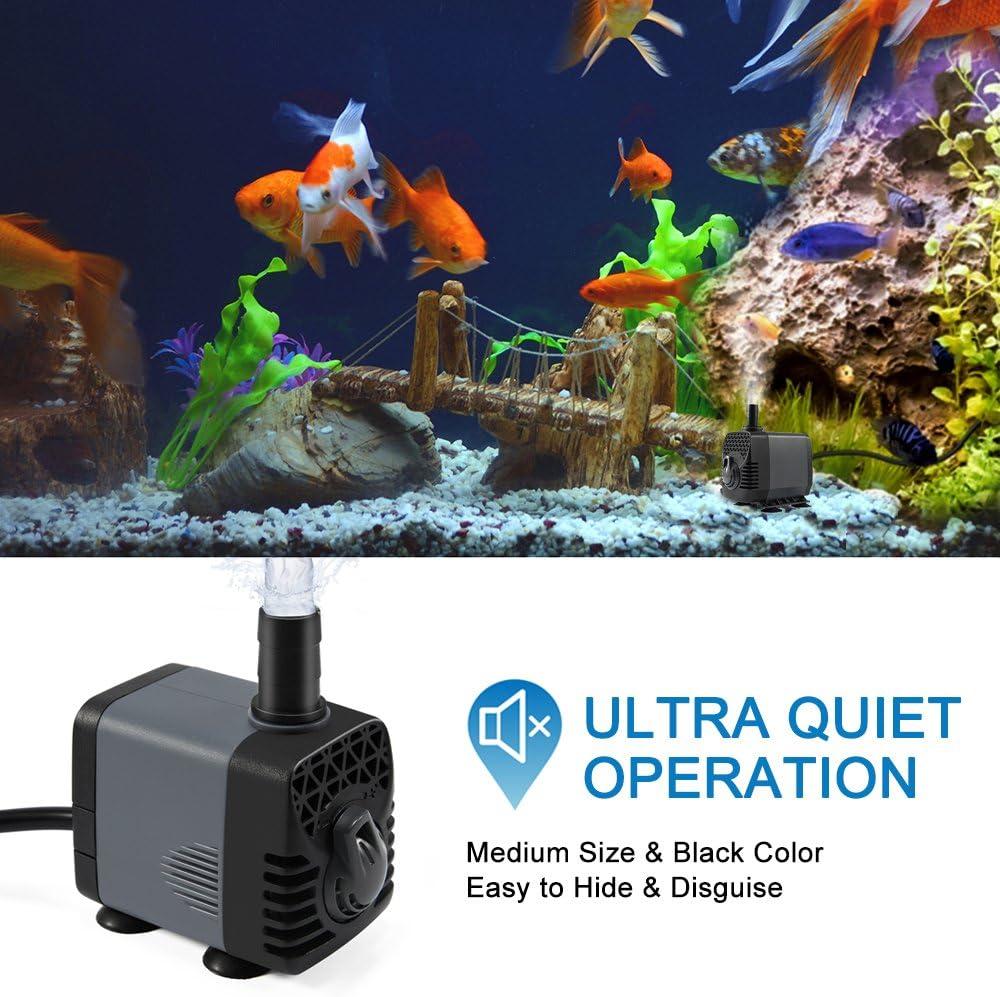 35W 12W DyNamic Pompe /À Eau Submersible Aquarium 6W 60W Pompe /À Faible Bruit 24W 6W 52W