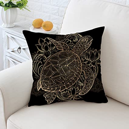 Amazon Sleepwish Cushion Cover 40 X 40 Black And Gold Beauteous Black And Gold Decorative Pillows