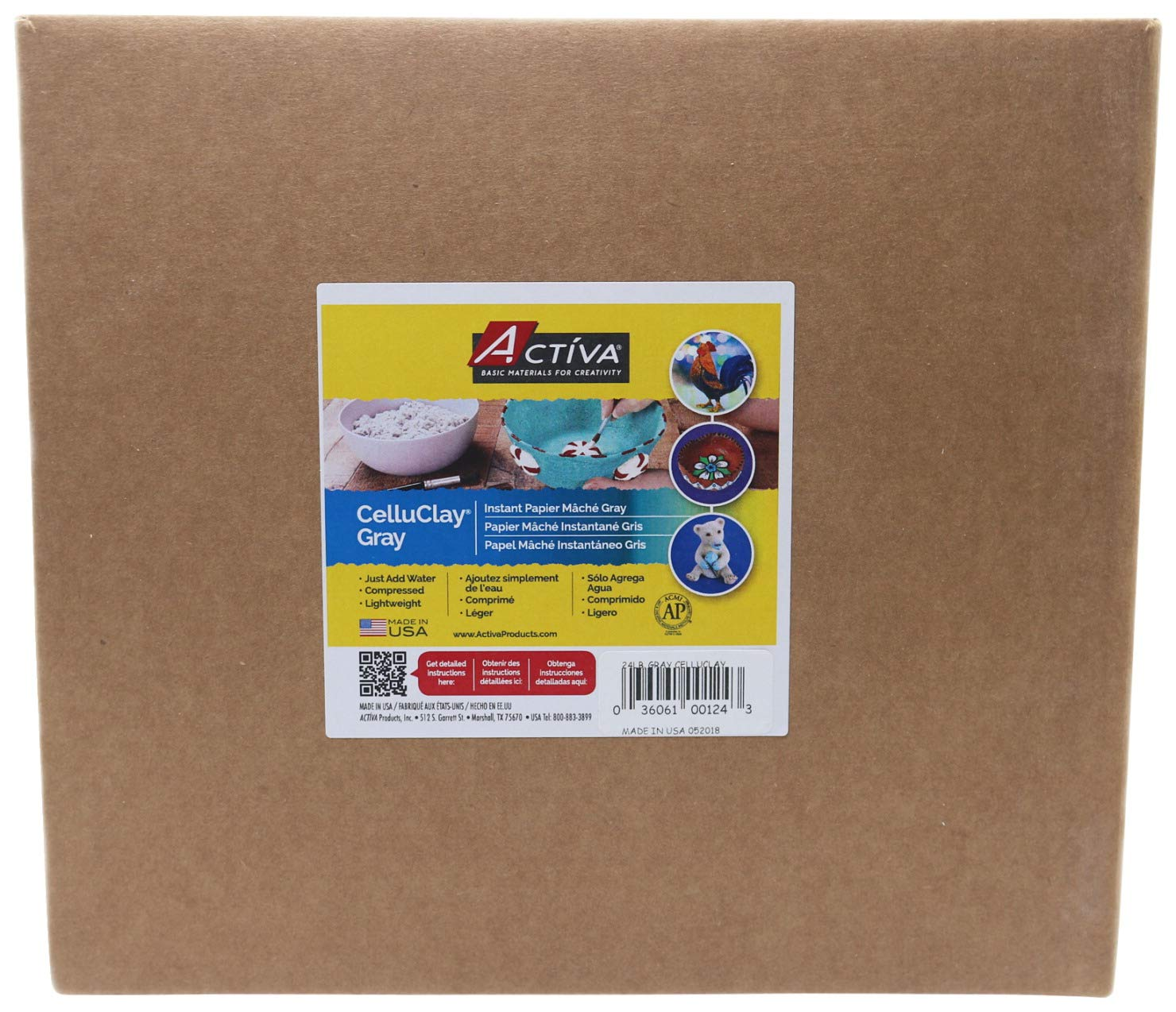Activa Celluclay Instant Papier-Mache - 24 lbs. - Gray