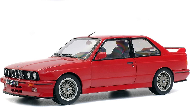 Solido – BMW M3 E30-1990 Coche en Miniatura de colección, 1801502, Rojo