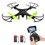 Drone with HD Camera, Potensic® U42W Wireless FPV 2.4Ghz RC Quadcopter Drone RTF Altitude Hold UFO with Newest Hover and 3D Flips Function, WiFi HD Camera