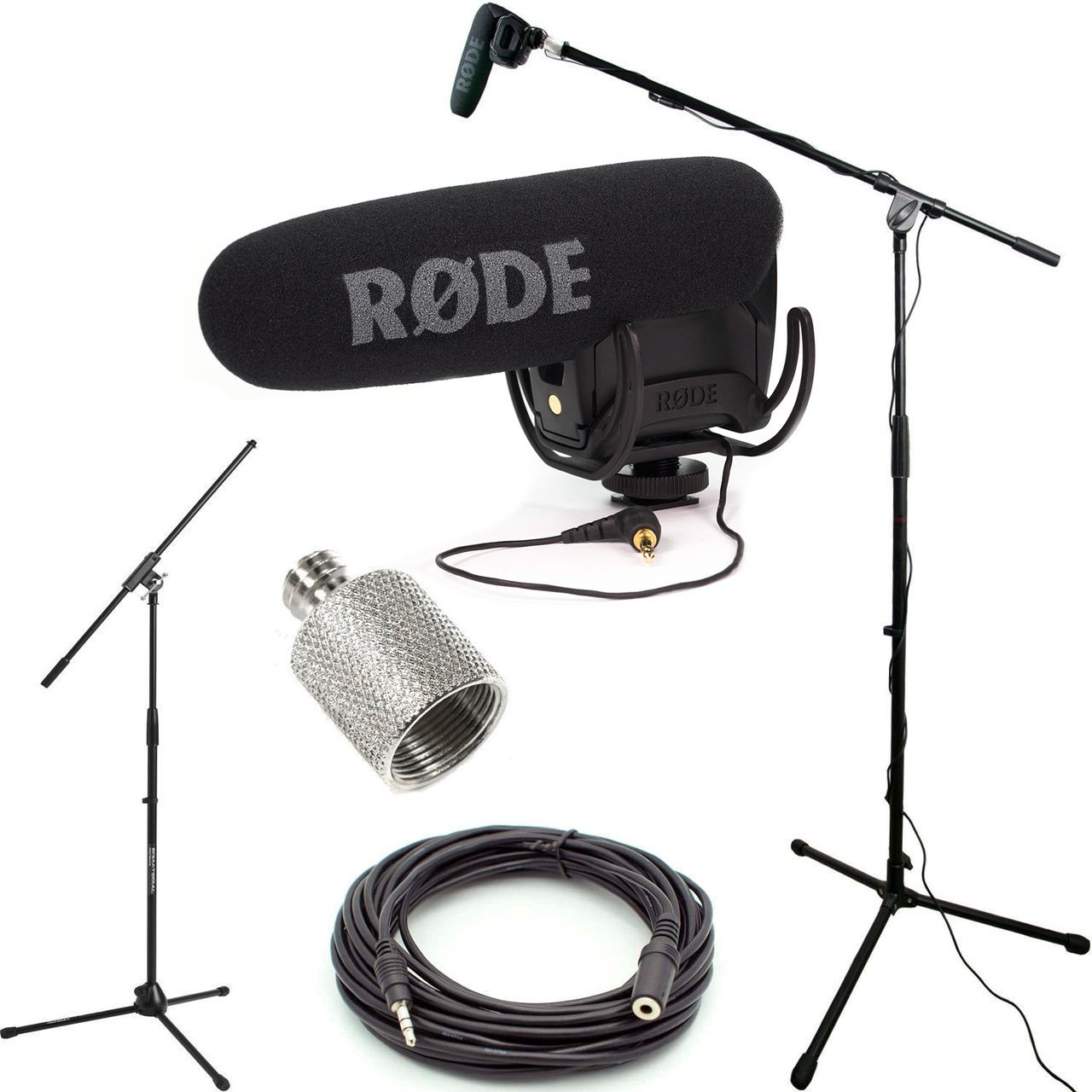 RODE VideoMic Pro R Studio Boom Kit - VMPR, Boom Stand, Adapter, and 25' Cable