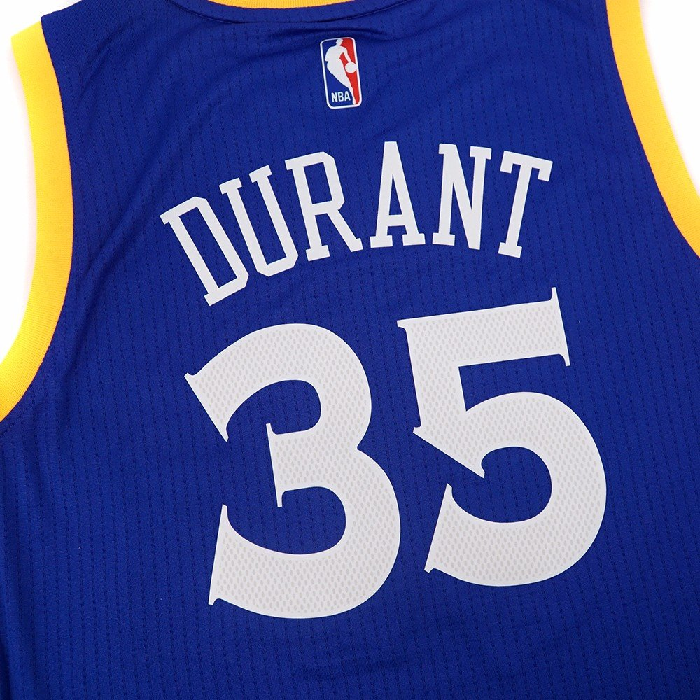 da27f5e71ed Amazon.com   Kevin Durant Golden State Warriors NBA Adidads Men Blue  Official Climacool Away Swingman Jersey (2XL)   Sports   Outdoors