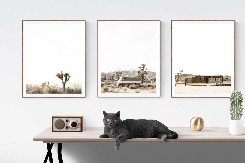 Desert Art Set of 3 unframed photos or canvas,Desert themed Wall art, Boho decor, Minimalist Wall Art