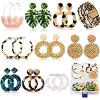 Acrylic Earrings for Women Girls Drop Dangle Leaf Earrings Resin Minimalist Bohemian Statement Jewelry Mottled Hoop…