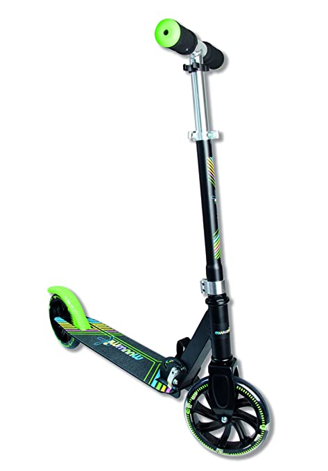 Authentic Sports & Toys GmbH «Muuwmi Neon» – Scooter de Aluminio, 180 mm, con Luces en Las Ruedas
