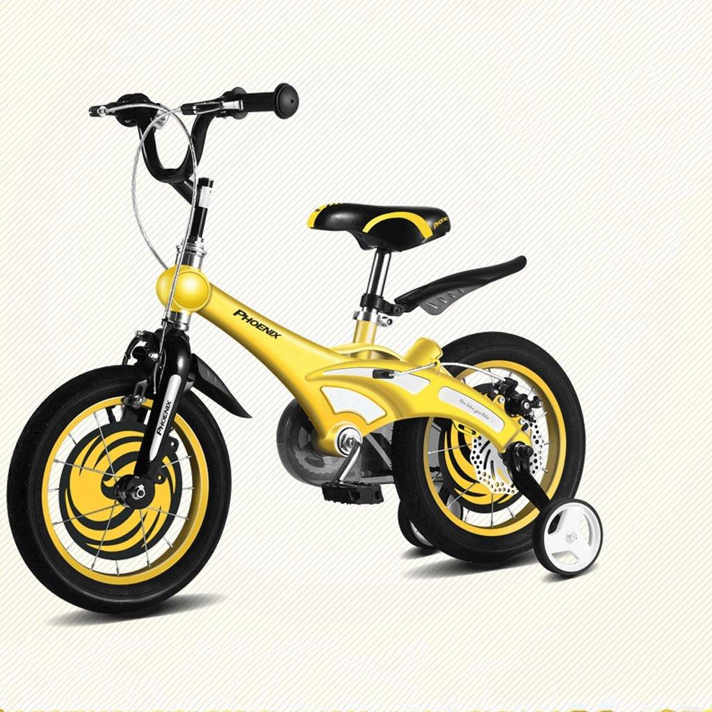 DGF 子供の自転車12/14/16インチの男性と女性のベビー自転車2-8歳のベビーカーのマウンテンバイク (色 : イエロー いえろ゜, サイズ さいず : 14 inches) B07F1YYRF2イエロー いえろ゜ 14 inches