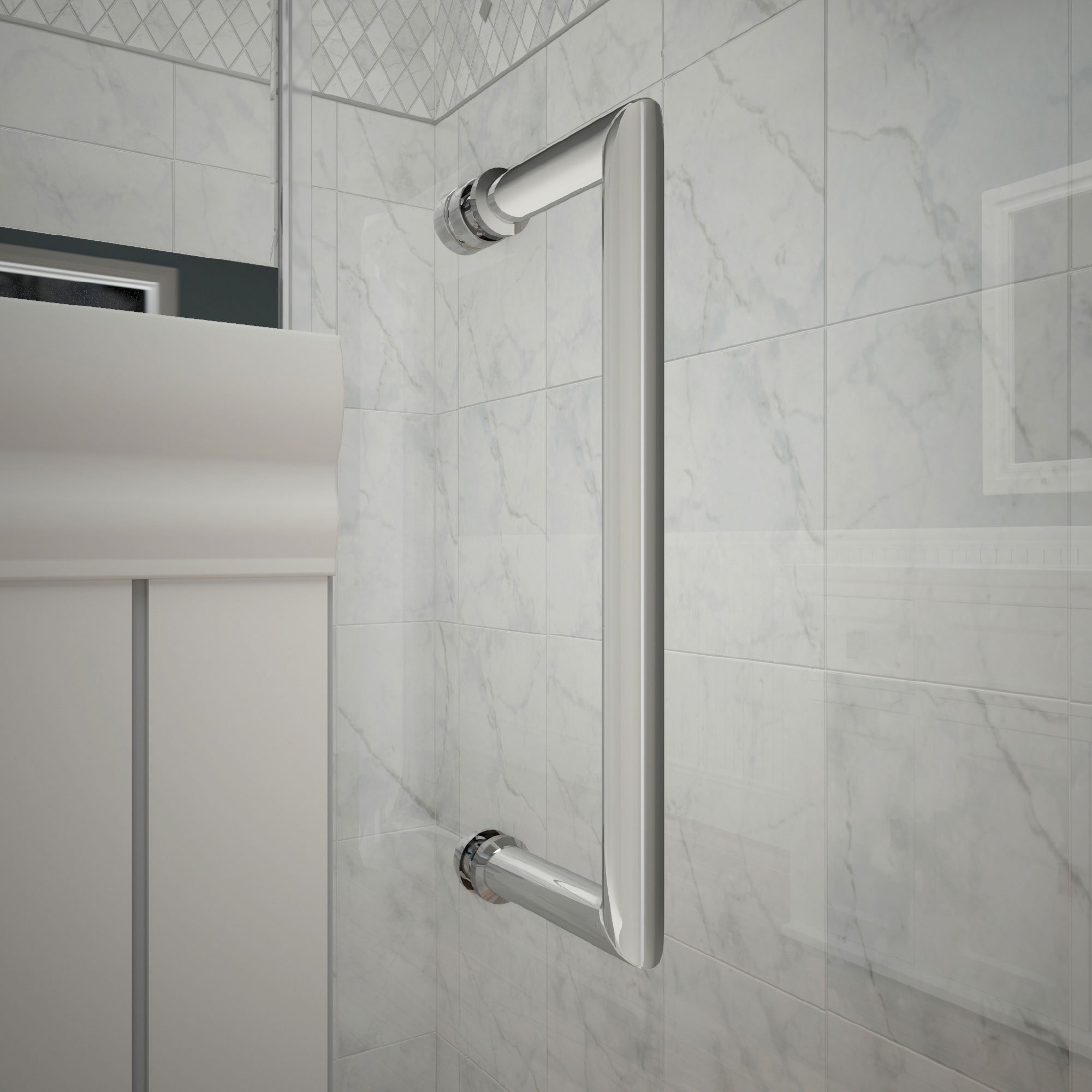 DreamLine Unidoor Lux 56 in. Width, Frameless Hinged Shower Door, 3/8'' Glass, Chrome Finish by DreamLine (Image #4)