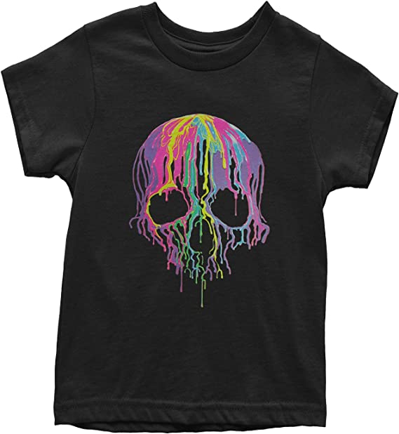 Expression Tees Neon Colors Sugar Skull Youth T-Shirt