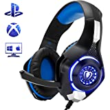 Beexcellent Gaming Headset for PS4 Xbox One, Comfort Noise Reduction Crystal Clarity 3.5mm LED Professional Headphone with Mic for PC Laptop Tablet Mac Smart Phone