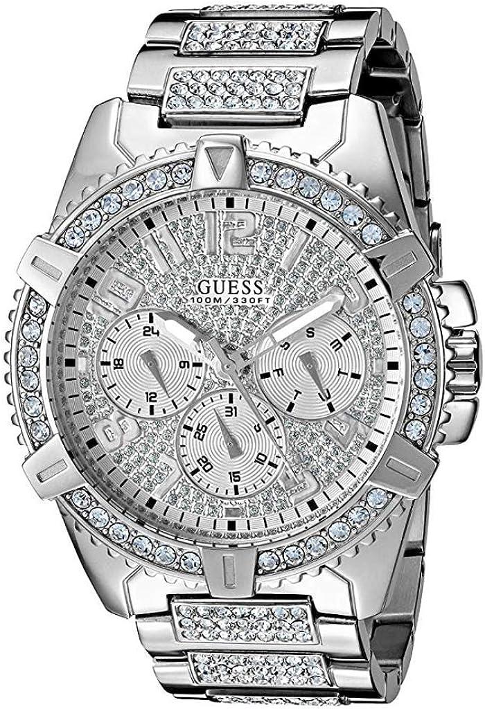 Luxury Watch Guess - Reloj de Pulsera para Hombre, diseño de Diamantes de imitación