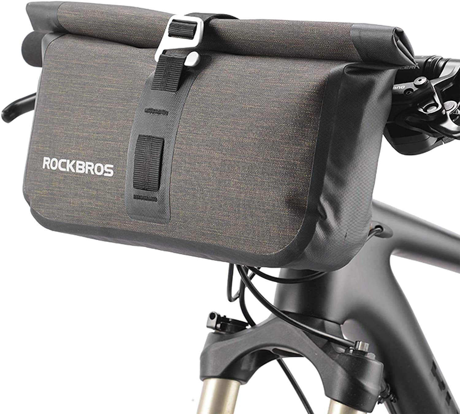 Rockbros bicycle handlebar bag touch screen waterproof front tube top 6.5 inches
