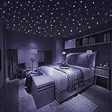 Homery Sternenhimmel 300 Leuchtsterne selbstklebend mit starker Leuchtkraft, fluoreszierende Leuchtsterne Wandtattoo & Wanddeko Aufkleber für Baby, Kinder oder Schlafzimmer