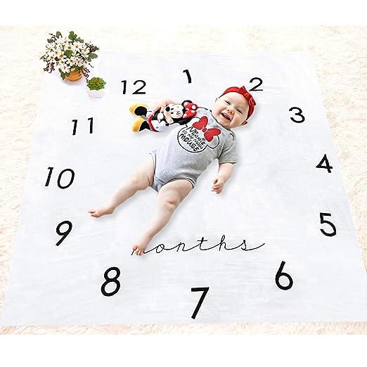 Hocaies Baby Fotografie Prop Decke Neugeborenes Baby Meilenstein Wachstums Rekord Decke Kreativ Hintergrund Muster Geeignet f/ür Neugeborene Baby-Dusche Geschenke.