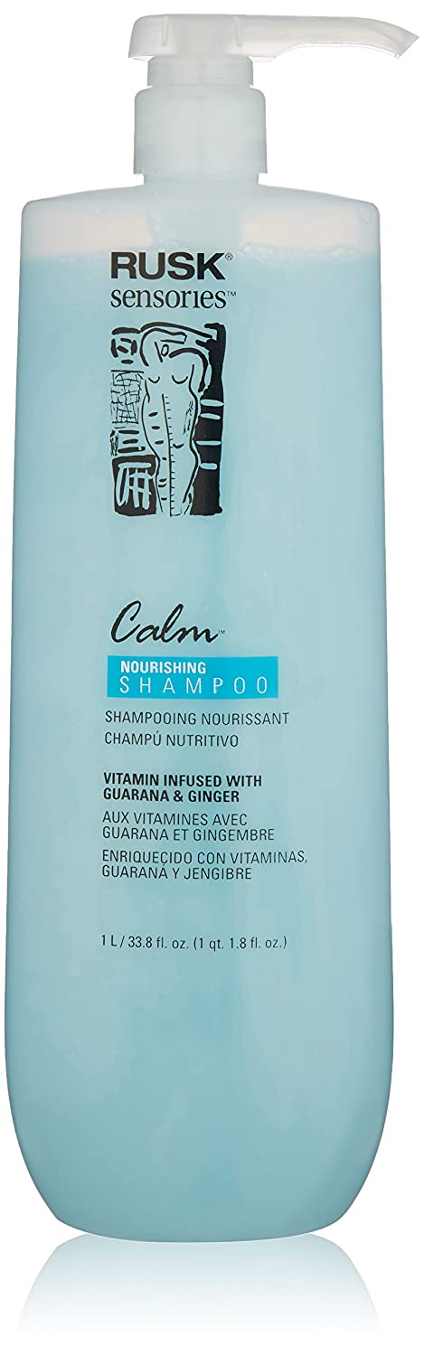 Amazon.com: RUSK Sensories Calm Guarana and Ginger Nourishing Shampoo, 33.8 Fl. oz.: Luxury Beauty