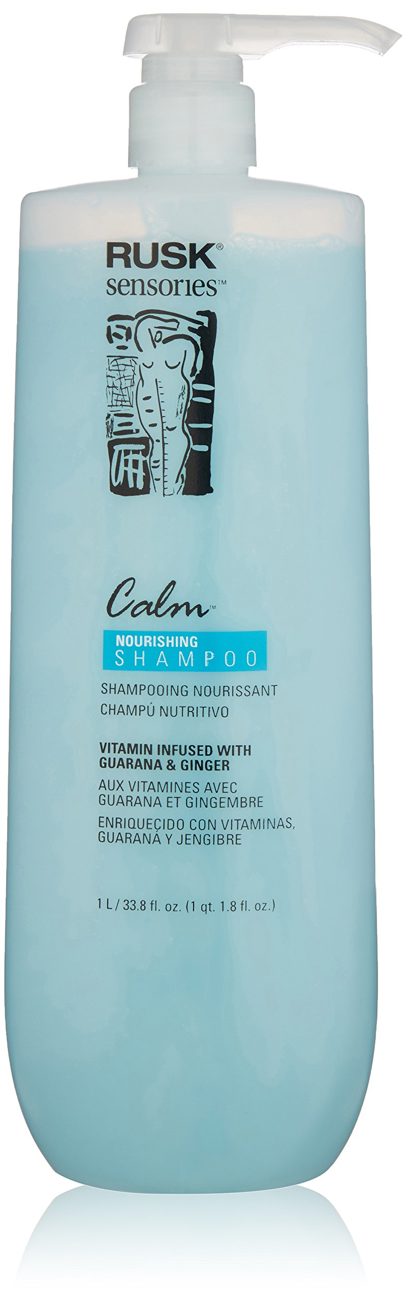 RUSK Sensories Calm Guarana and Ginger Nourishing Shampoo, 33.8 Fl. oz.