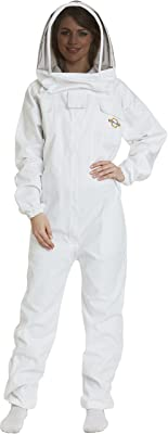 Natural Apiary - Apiarist Beekeeping Suit - (All-in-One) - Fencing Veil - Total Protection for Professional and Beginner Beekeepers - X Large - White