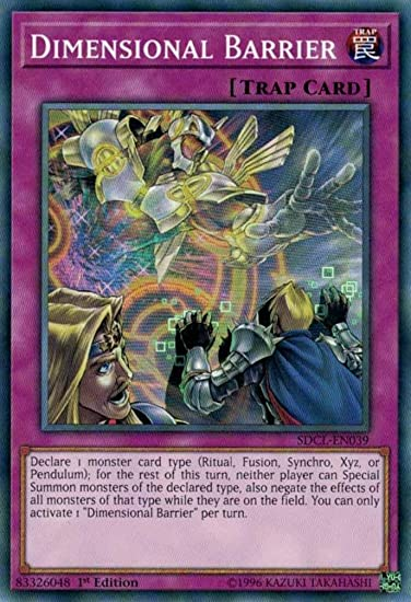 SDCL-EN039 DIMENSIONAL BARRIER Common 1st Edition YuGiOh Card