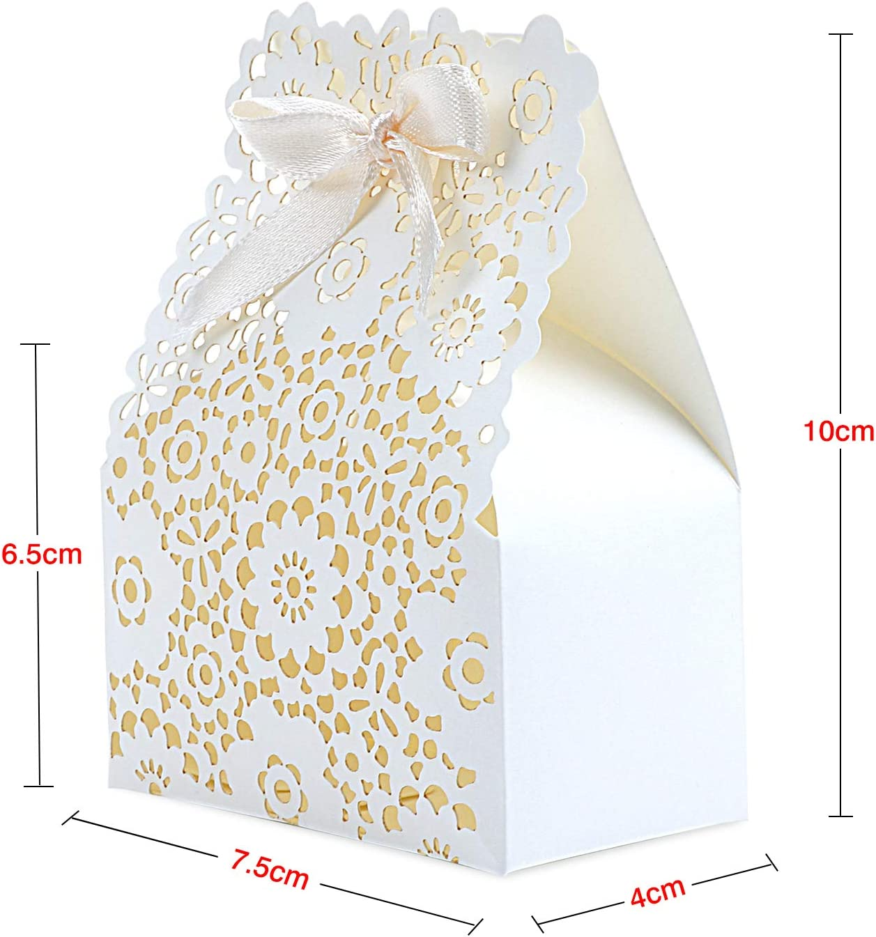 19 TsunNee Hohle Papier Süßigkeiten Box, Blumen Muster,  Hochzeits Gastgeschenk Boxen, DIY Party Geschenk Box, kreative  Papier Leckerli Boxen, 10 Stück