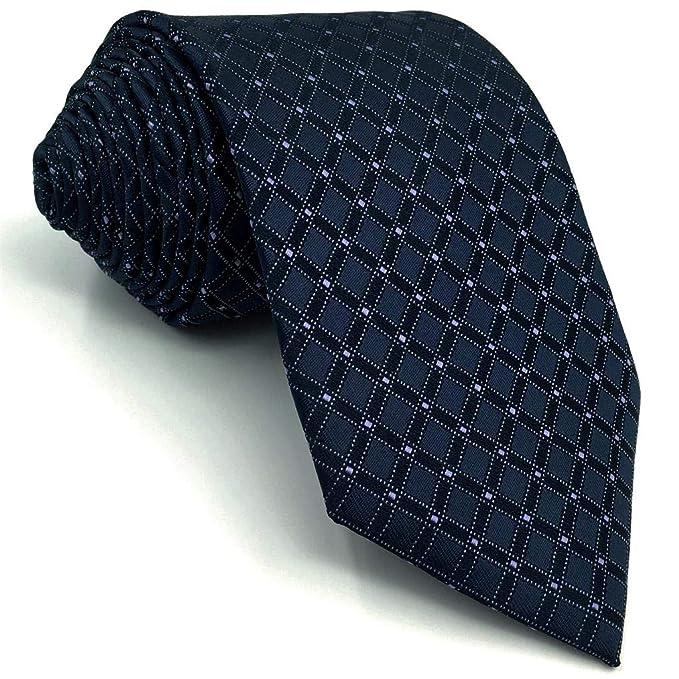 S&W SHLAX&WING Corbatas Para Hombre Navy Azul a cuadros Classic ...