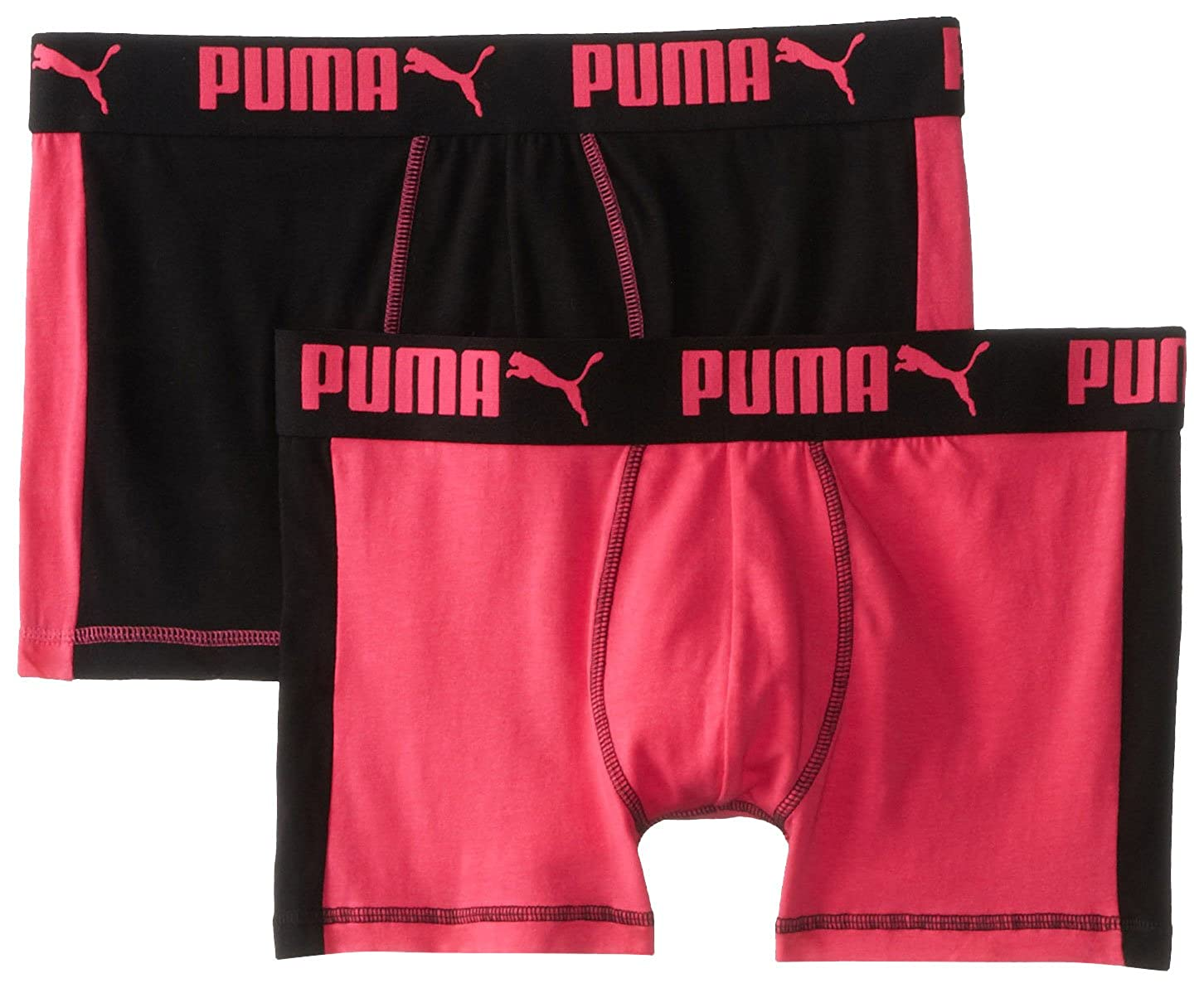PUMA Mens 2-Pack Cotton Trunk Pink//Black Large Puma Men/'s Underwear PUMSS1411640