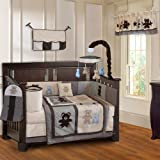 BabyFad Teddy Bear 10 Piece Baby Crib Bedding Set