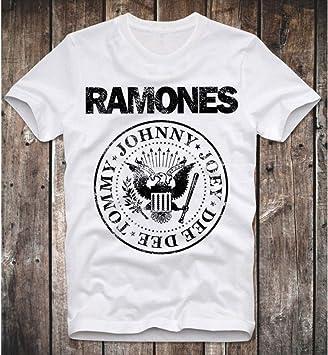 GKKYU Camisa con Logo Retro Vintage White Punk Rock Clash Hombres Manga Corta O-Cuello Tops Camisetas Streetwear: Amazon.es: Deportes y aire libre