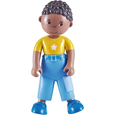 "HABA Little Friends Erik - 4"" African American Boy Bendy Doll Figure: Toys & Games"