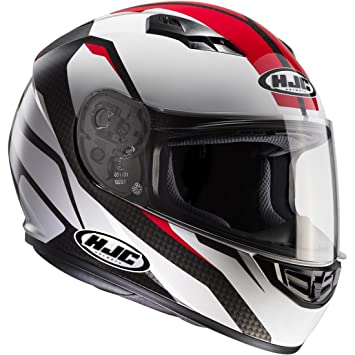 HJC 101401 X XL Casco Moto, Color blanco/rojo, XXL