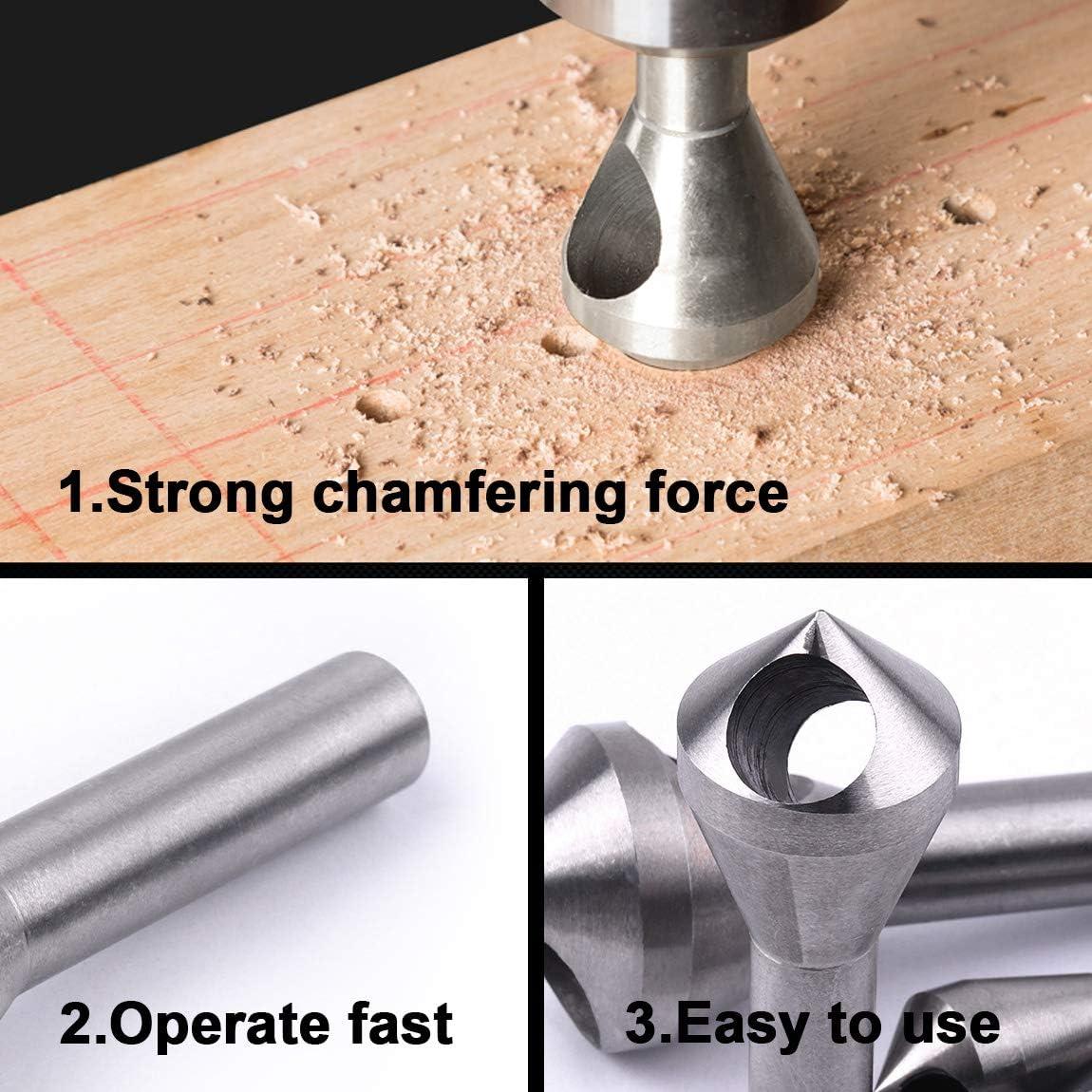 ATOPLEE 4pc en bois en acier Fraiser D/ébar outil /ébavurage Deburing Set trou Countersinker