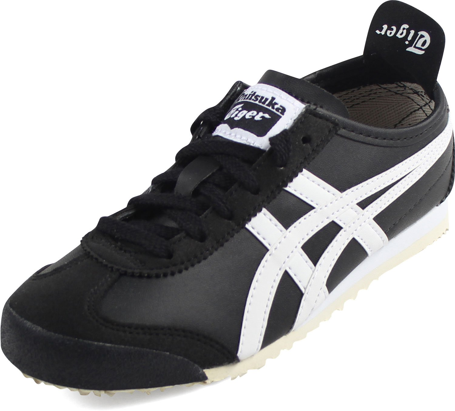 pretty nice 3be0b a893e Onitsuka Tiger Kids by Asics Boy's Mexico 66 PS (Little Kid) Black/White 1  Little Kid M