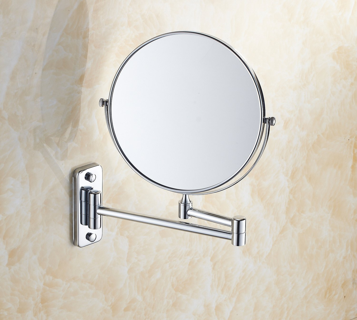 IBeaty Bathroom Mirror 8 inch Wall Mount Makeup Mirror Double-Sided Face Mirror, Swivel Vanity Mirror 1x and 7x Magnification Polished Chrome Finished by IBeaty (Image #3)