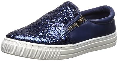 Qupid Women's Reba-181C Sneaker, Navy Glitter, ...