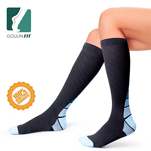 8d8aa0b279 Amazon.com: Goulpa Fit Compression Socks for Women and Men Running  Compression Socks Nurses Compression Socks Women Medical Compression Socks  Pregnancy ...