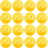 Crown Sporting Goods Pickleballs, Standard Size (40 Hole Pattern) - Outdoor Game, Practice, Training Polymer Balls, Goldenrod Yellow