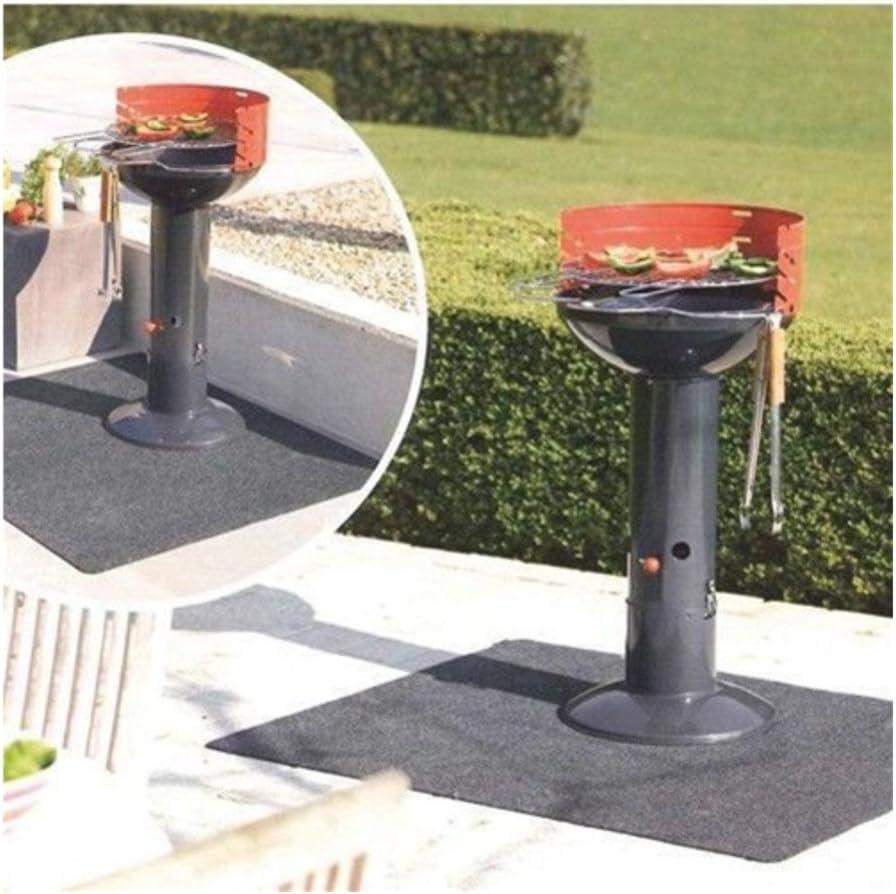 zerone - Alfombra de protección para barbacoa, barbacoa, camping, 75 x 124 cm