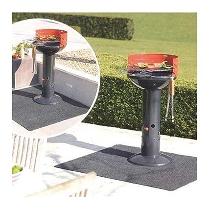 Alfombra para barbacoa, alfombra resistente protección de suelo para barbacoa BBQ chimenea Camping 75 cm