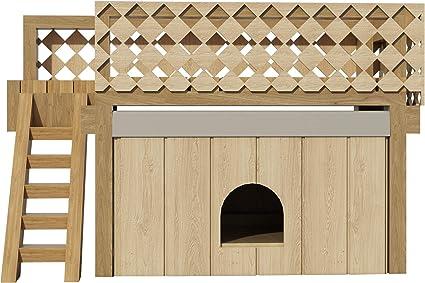 DIY Plans Planos de casa de Perro con Cubierta de Techo, Refugio para caseta de Madera para Mascotas: Amazon.es: Productos para mascotas