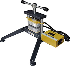 """Grip Twist Heat Press, 5000+lbs Force, 3"""" x 5"""" Dual Insulated Heat Plates - Affixed and Portable Options - Detachable Control Box"""