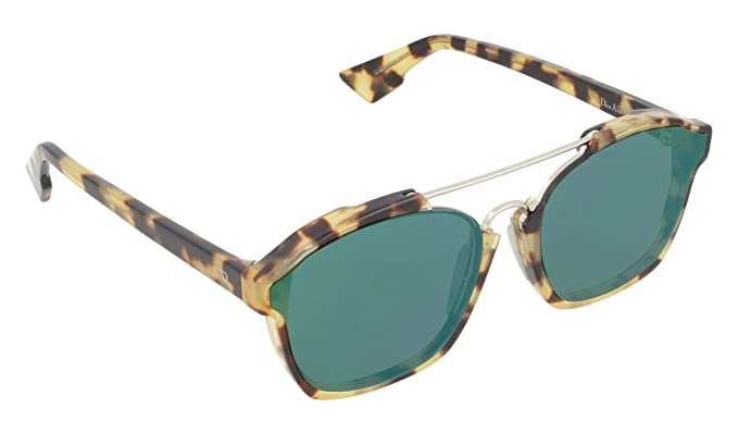 b8c8ee1ef0a9d Dior 00F9S Tortoise DiorAbstract Square Aviator Sunglasses Lens Mirrored