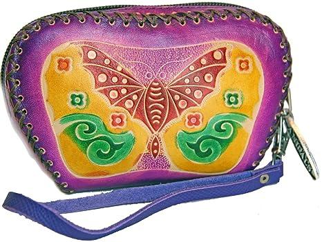 Amazon.com: Púrpura Mariposa en relieve cambian Purse ...